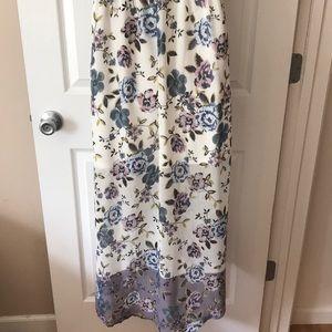 Maurices Dresses - Long floral high low faux wrap dress.